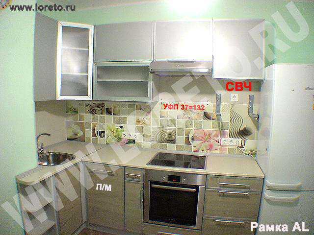 Выступ вентиляционного короба в углу кухни фото 58