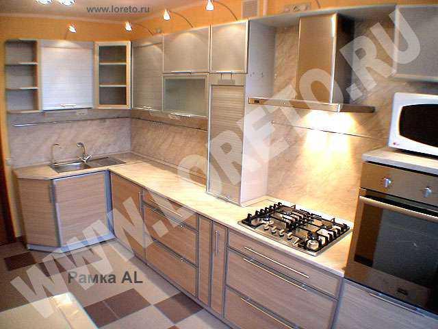дизайн кухни с рамочными фасадами фото