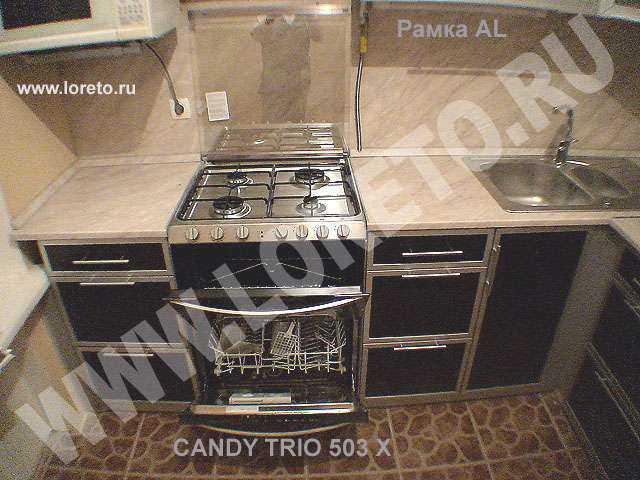 Недорогие кухни на заказ с фасадами из пленки ПВХ и пластиковой столешницей. Длина кухни - 3,15 п.м