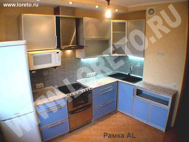 Кухня с вентшахтой по индивидуальному дизайну фото 49