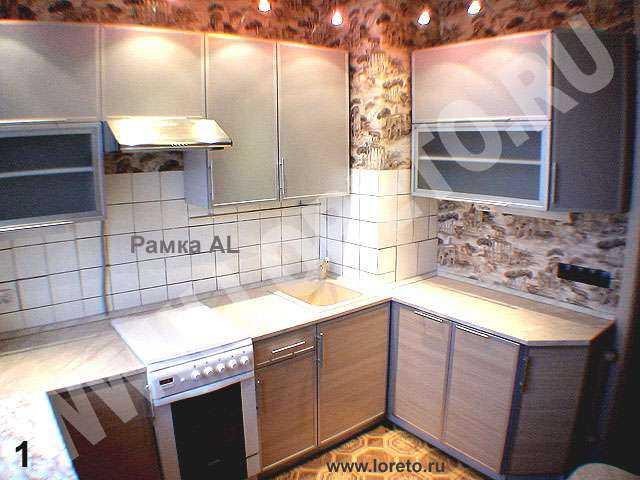 Вентиляционная шахта в углу кухни на заказ фото 54