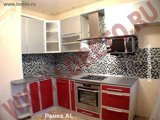 Кухня 10 кв. м с коробом по индивидуальному заказу фото 73