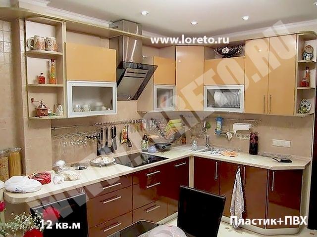 Встроенная кухня с эркером по индивидуальному дизайну в п 44т фото 11