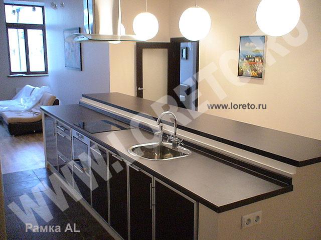 Красивый дизайн кухни для офиса с барной стойкой фото 16
