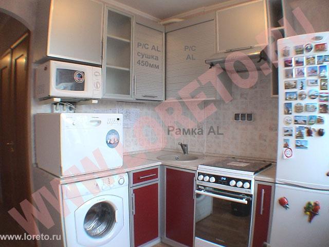 Фото кухня в хрущевке 6 кв.м дизайн с холодильником