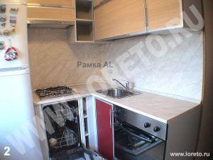 Встроенная малогабаритная кухня с холодильником фото 78