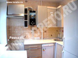 Угловой кухонный гарнитур с холодильником фото 76