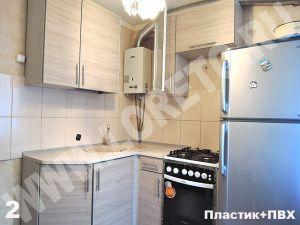 Кухня с газовой колонкой и холодильником на заказ фото 80