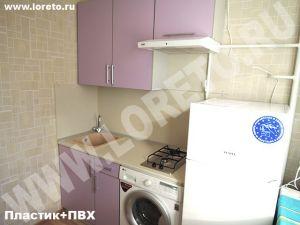 Маленькая мини - кухня с холодильником фото 62