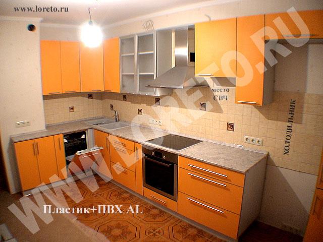 Мебель для кухни 12 кв. м с коробом в п44 фото 78