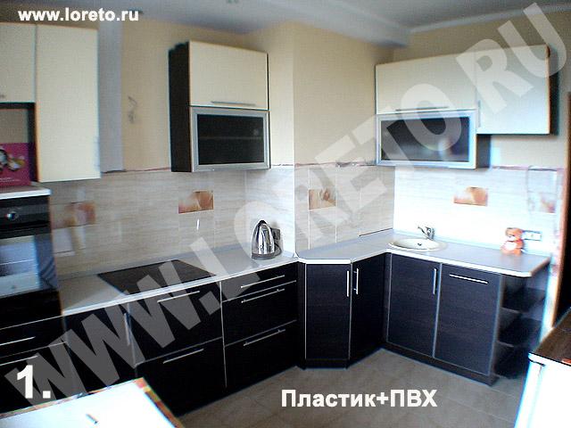 Дизайн встроенной кухни с коробом в углу фото 51