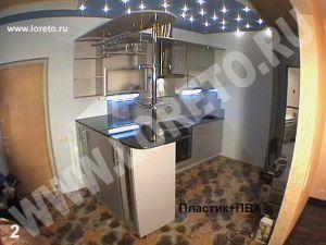 Барная стойка в маленькой кухне для студии купить в Москве фото 9