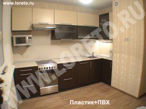 Недорогая мебель для кухни с вентиляционным коробом в Москве фото 38