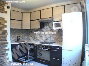 Кухня с коробом для вентиляции в углу дизайн